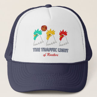 < wa taking signal > The traffic light of roosters Trucker Hat