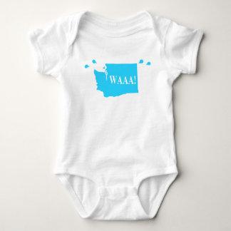 waAA! washington baby bodysuit aqua
