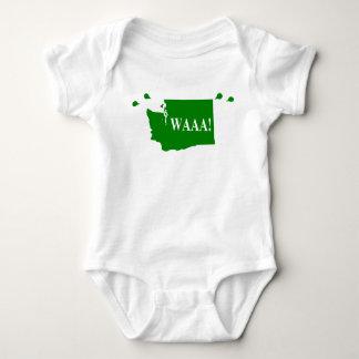 waAA! washington baby bodysuit green