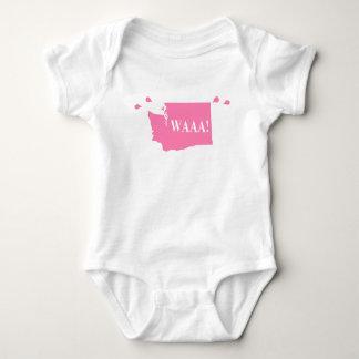WAAA! washington baby bodysuit pink