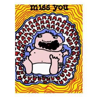 waaaaaa, miss you postcard
