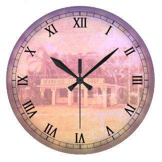 Wabasso Tackle Shop Large Clock