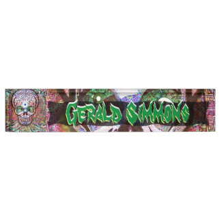 Wacky and Wild Sugar Skull Personalize Name Plate