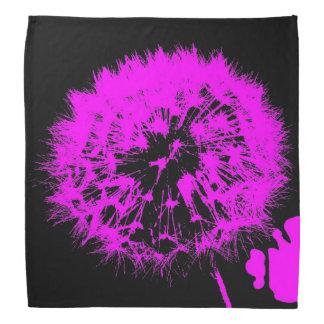 Wacky art -dandelion pink (C) Bandana