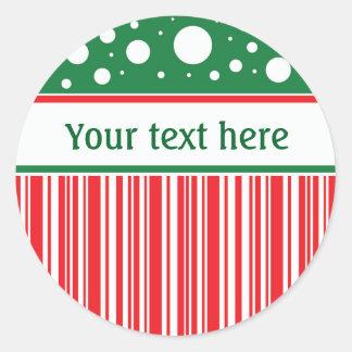 Wacky Christmas Classic Round Sticker