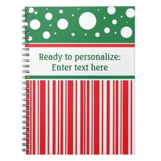Wacky Christmas Spiral Notebook