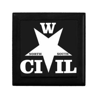 wacky civil war logo small square gift box
