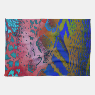 Wacky Colorful Animal Leopard Print Tea Towel