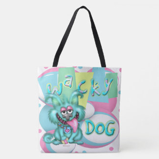 WACKY DOG ALIEN All-Over-Print Tote Bag, Large