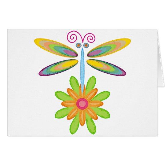 Wacky Dragonfly Card