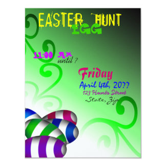 Wacky Easter Egg Hunt Invitation