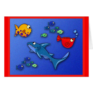 Wacky fish with Shark Card