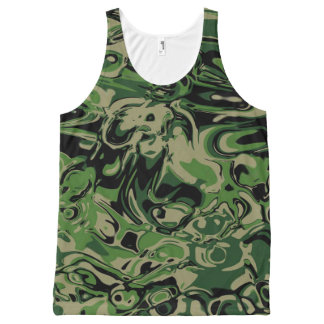 Wacky Green All-Over Print Singlet