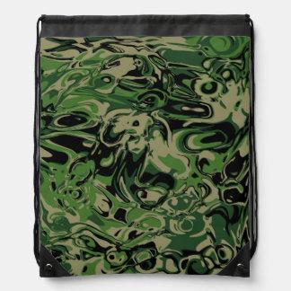 Wacky Green Drawstring Bag