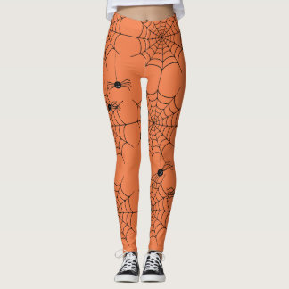 Wacky Spiders Halloween Leggings
