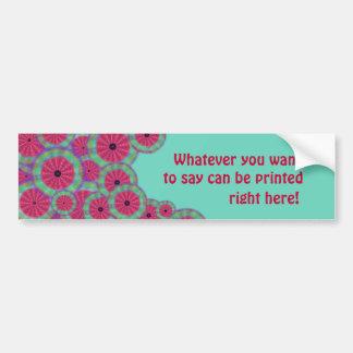 Wacky Sunshine Watermelon Mandala Bumper Sticker