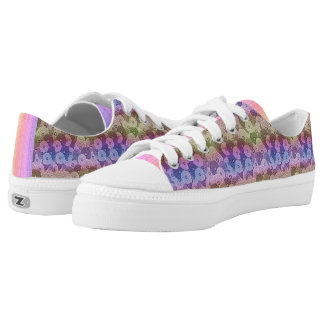 Wacky Zinnias Low Tops Printed Shoes