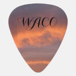 Waco Sunset Guitar Pick