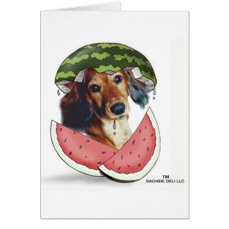 Waddleful Watermelon Card