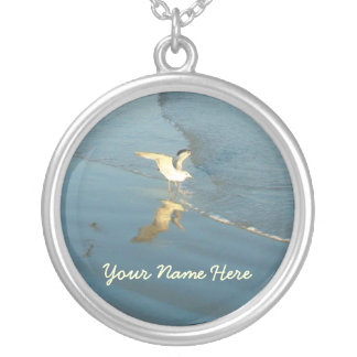 Wading Gull Personalized Necklace