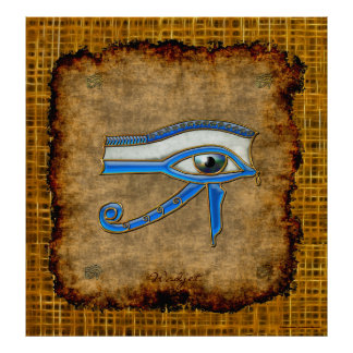 Wadjet Ancient Egyptian Eye of Prophecy Art Poster