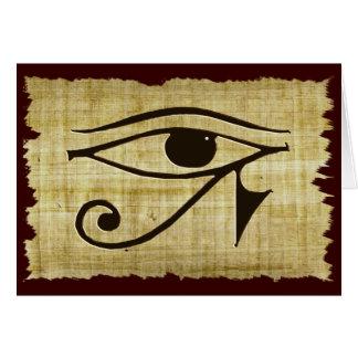 WADJET EYE OF HORUS on Papyrus Gift Series Card