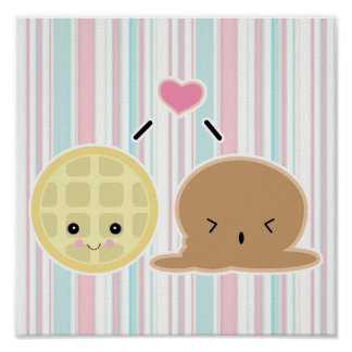 waffle and ice cream love poster