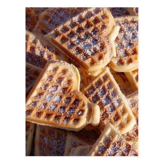 Waffle Hearts Postcard