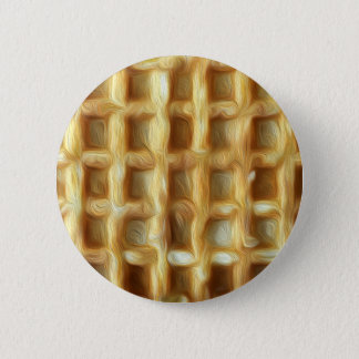 Waffle oil paint effect 6 cm round badge