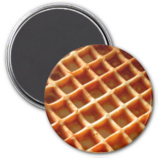 Waffles 7.5 Cm Round Magnet