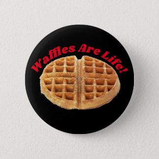 Waffles Are Life Strange Frozen Waffle Novelty 6 Cm Round Badge