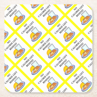 waffles square paper coaster