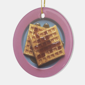 Waffles With Syrup Ceramic Ornament