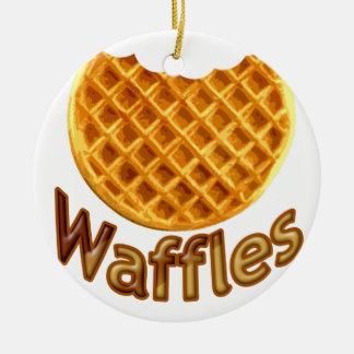 Waffles Yum Ceramic Ornament