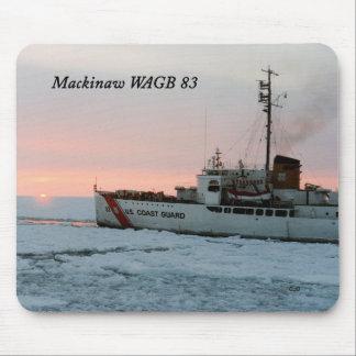 WAGB 83 Mackinaw sunset mousepad