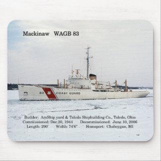 WAGB 83 Mackinaw white mousepad