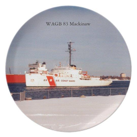 WAGB 83 Makcinaw white plate