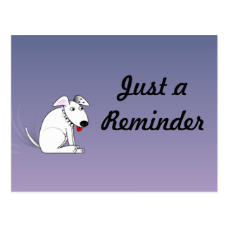 Wagging Dog Reminder Postcard