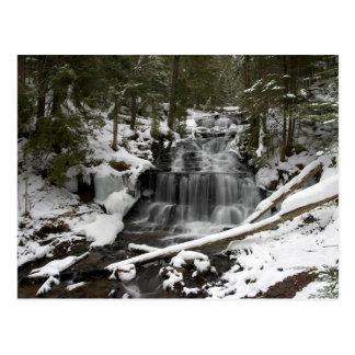 Wagner Falls In Winter-postcardcopy Postcard