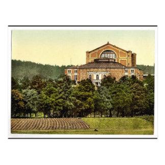 Wagner's theater (i.e. Festspielhaus), Bayreuth, B Postcard