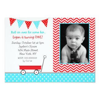 Wagon Birthday Party Invitations