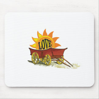 wagon full of love mouse pad
