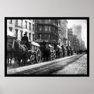 Wagon Train New York 1908 Poster