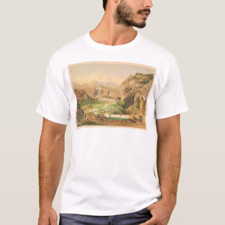 Wagon Trains arriving at Outpost (1838A) T-Shirt