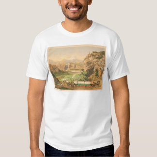 Wagon Trains arriving at Outpost (1838A) Tshirts