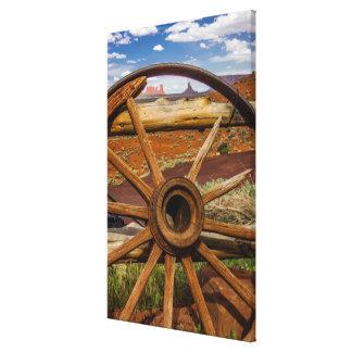Wagon wheel close up, Arizona Canvas Print