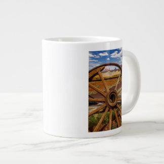 Wagon wheel close up, Arizona Large Coffee Mug
