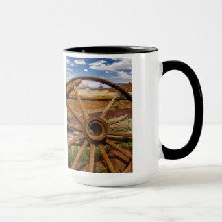 Wagon wheel close up, Arizona Mug