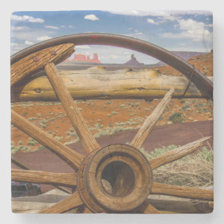 Wagon wheel close up, Arizona Stone Coaster