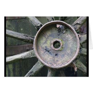 Wagon Wheel, Ulster American Folk Park, N.I. Card